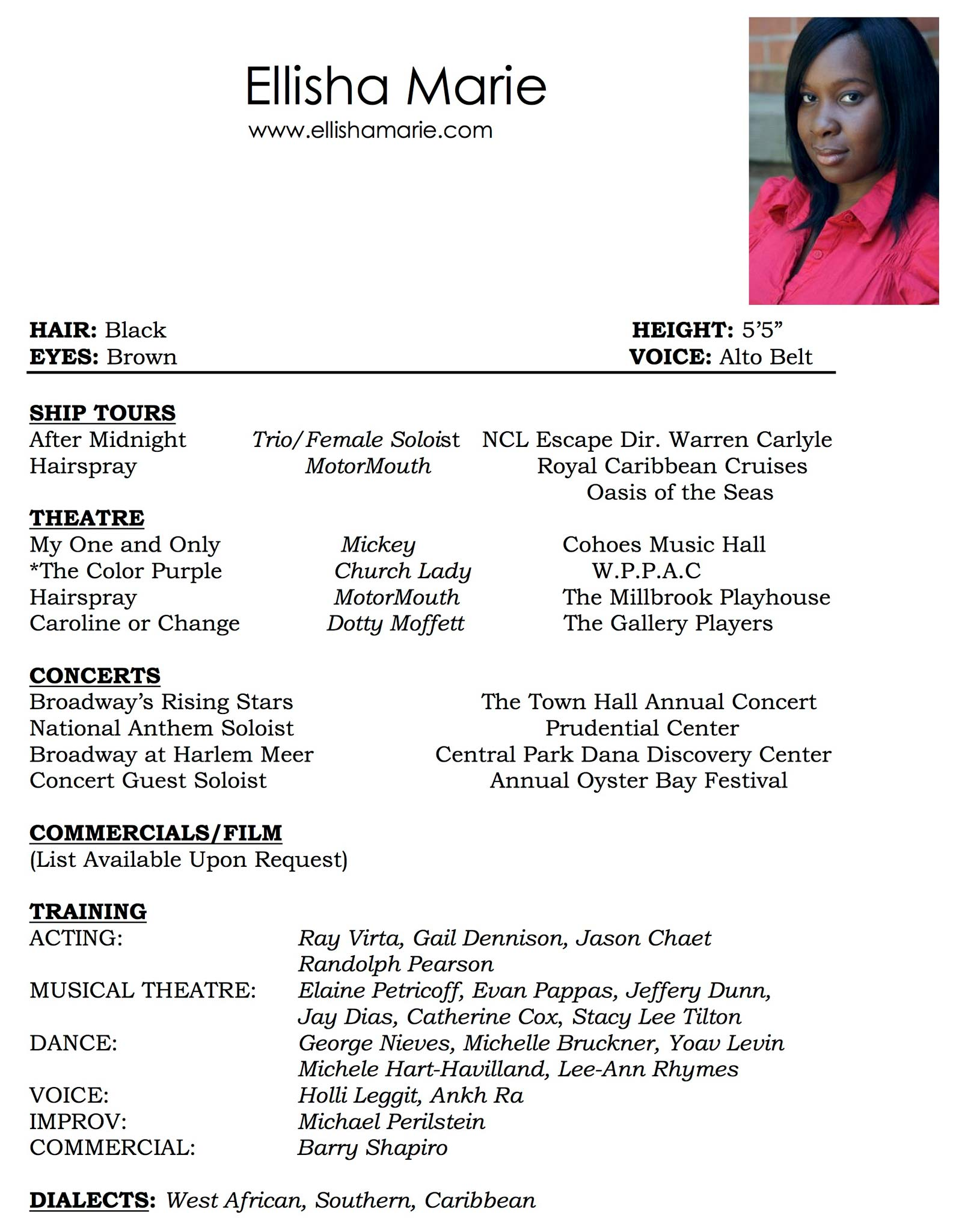 Ellisha Marie Resume